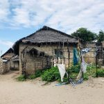 Traditional Swahili house, relying on mangroves