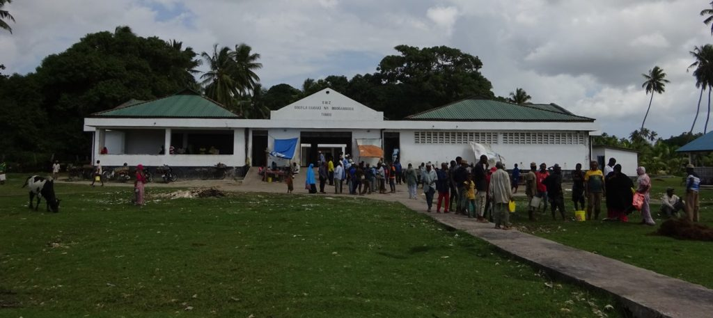 The government fish market at Tumbe, north-east Pemba