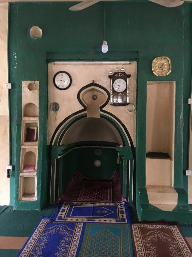 The rare surviving mihrab from the mosque at Shumba, dating to the 18th century