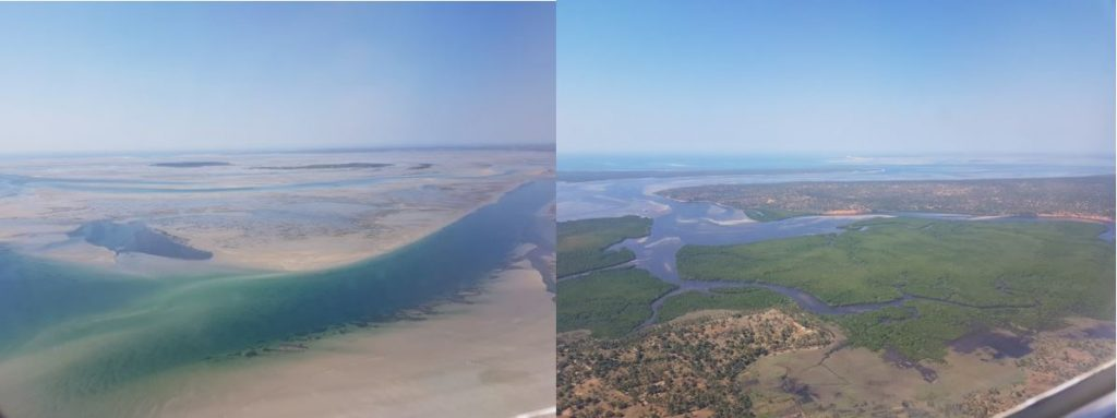 View of Inhambane Bay and mangrove forest