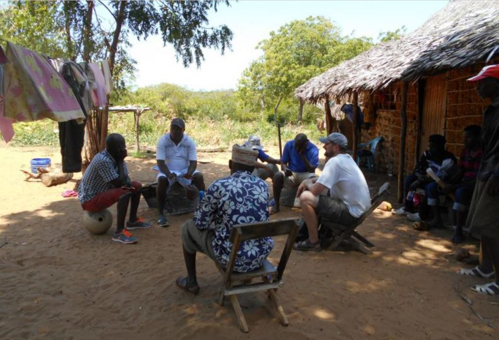 The MUCH Survey team interviewing elders at Kisiwani (Field Data August, 2019)