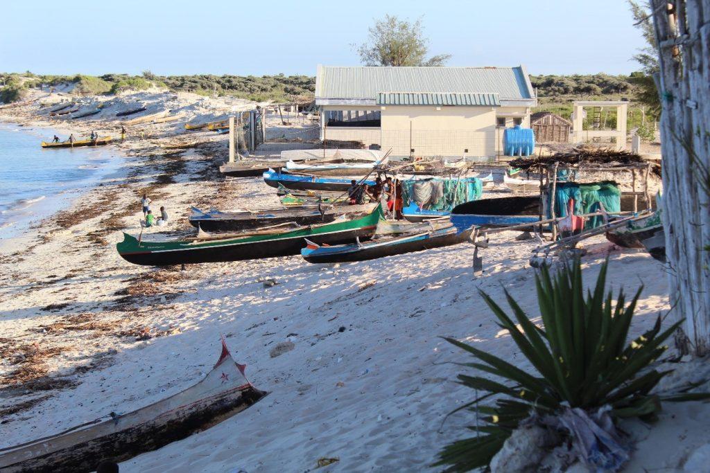 Boats on a beach in Tsifota