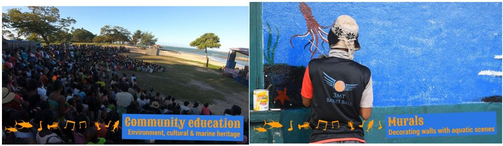 Community education and murals at the Festival of the Sea