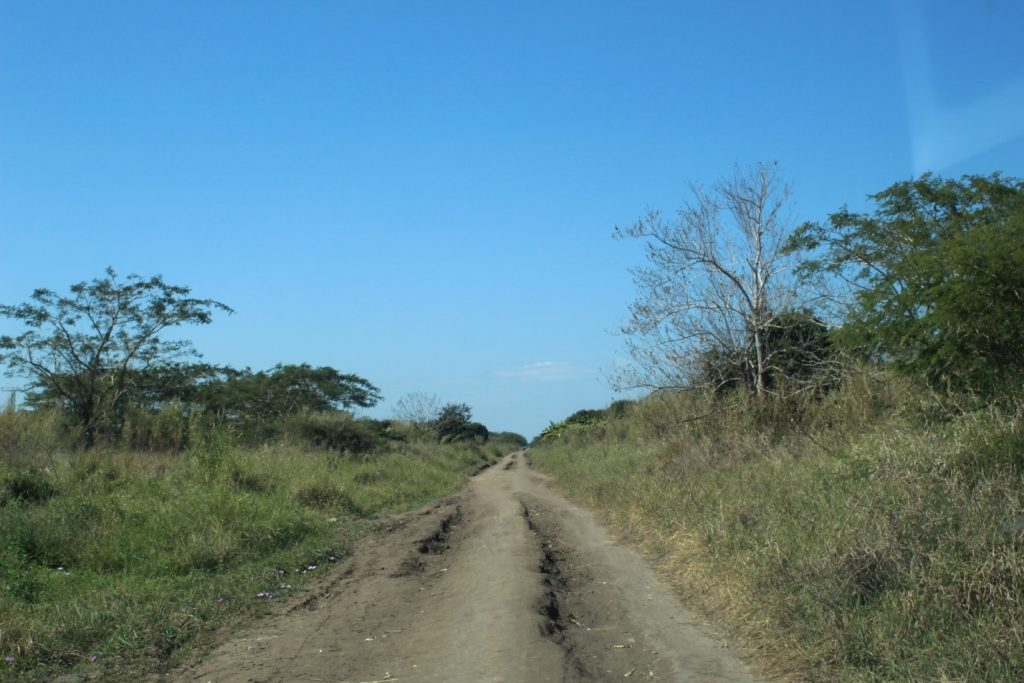 Access roads to Chinde village