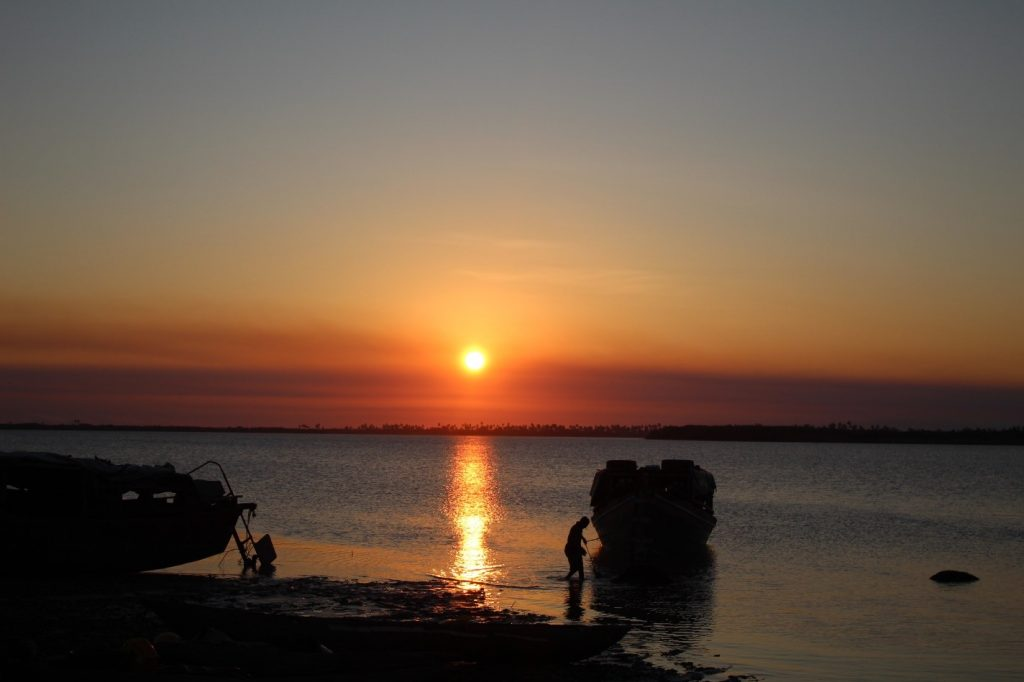 Panoramic view of Chinde Zambeze River Landim Beach Chinde