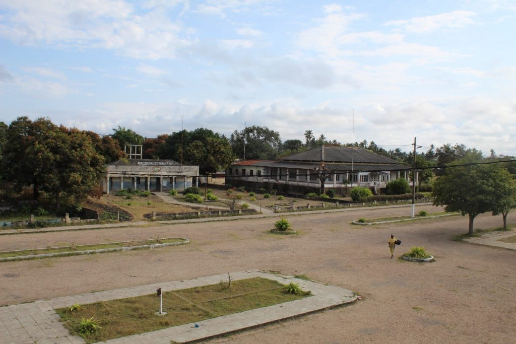 Panoramic view of the buildings of the former company, Senna Sugar States Lda located at Av. dos Heróis Moçambicanos